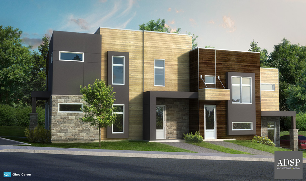 """Perspective 3D - Condos pour <a href=""""http://www.firmeadsp.com"""">ADSP Architecture+Design</a>"""